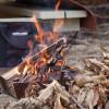 焚き火と炭火とユニフレームと。